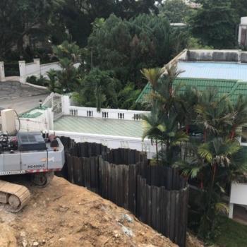 Interlocked landslide